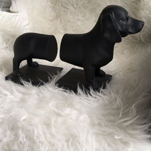 Dachshund Bookends